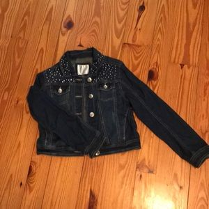 Girls justice denim jacket size 10